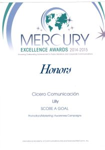 Diploma - Honors - Mercury Excellence Awards