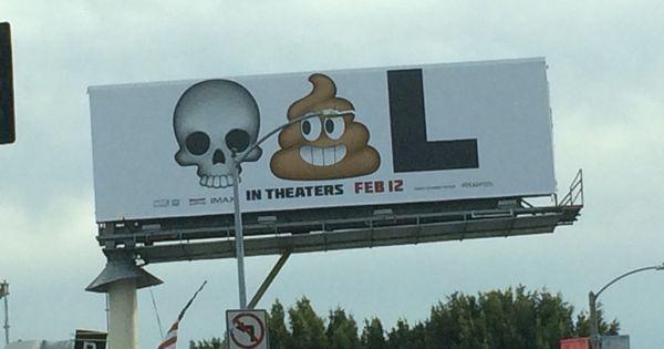 Publicidad de Deadpool con Emojis/emoticonos