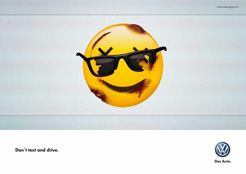 Publicidad de Volkswagen usando emoticonos