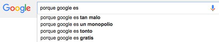 porque google es tan malo
