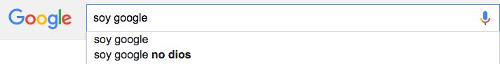 Soy Google no Dios