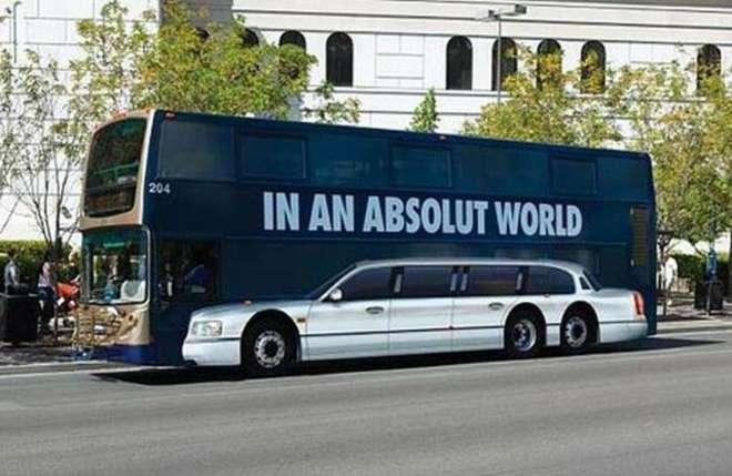 Ejemplo de acción de street marketing en Autobuses de Absolut