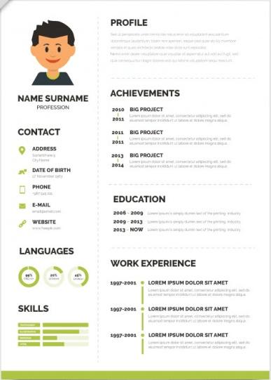 diseños de curriculum vitae