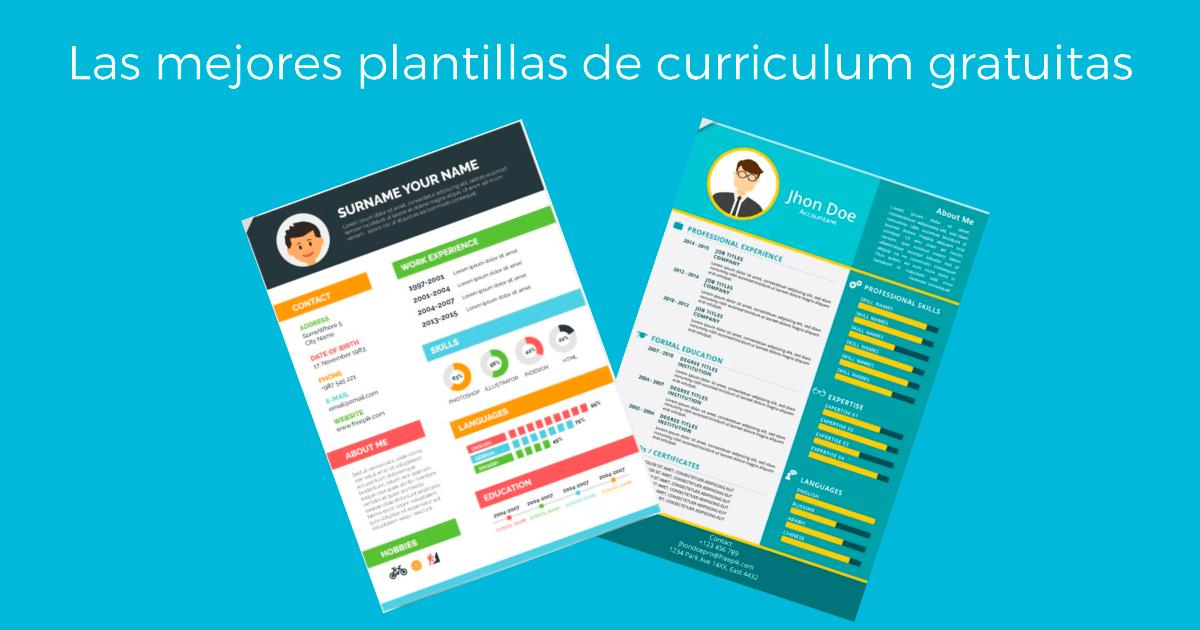 Mejores PLANTILLAS de curriculum GRATUITAS | Cícero Comunicación