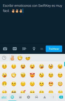 teclado emoticonos swiftkey