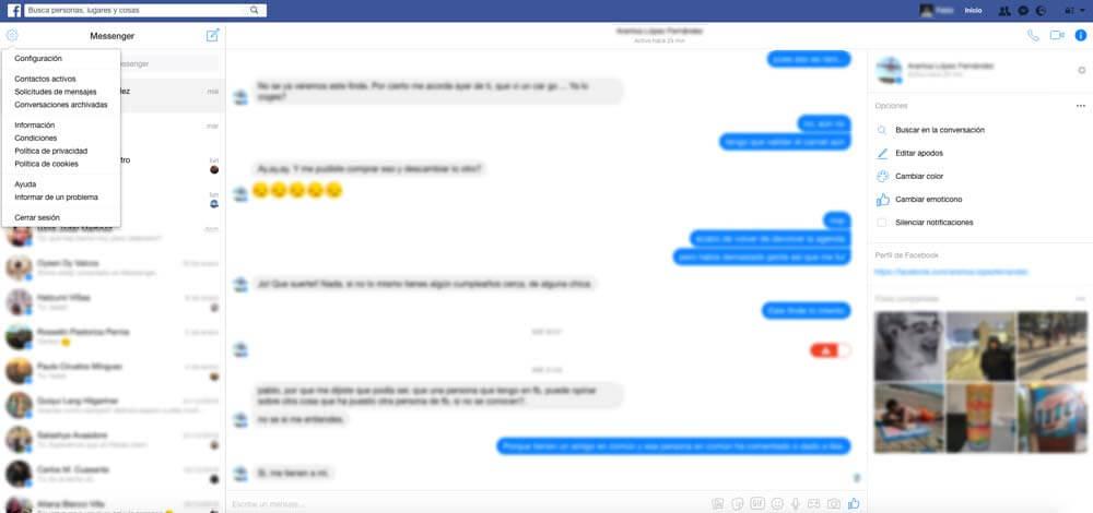Configuración Facebook Messenger