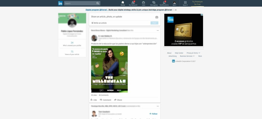LinkedIn cambia su diseño