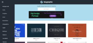 Blugraphic página web recursos gráficos