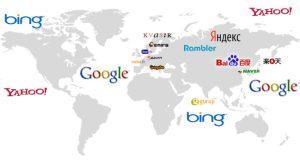 Mapa de los buscadores web más utilizados