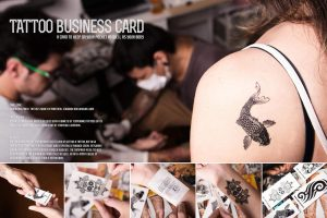 Tarjeta de visita tatuajes