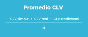 Formula para calcular el promedio del CLV