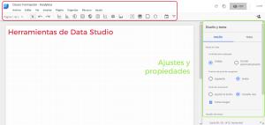 Análisis del editor de Data Studio
