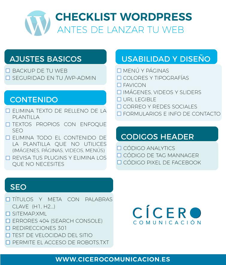 Checklist paso a paso antes de lanzar tu web