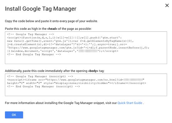 Código de Google Tag Manager
