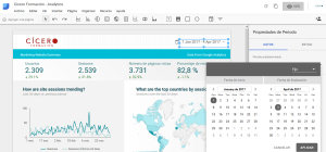 Editar la fecha del informe Analytics Google Data Studio