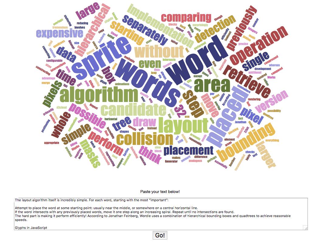 Herramienta para la creación de nubes de palabras de Jason Davies