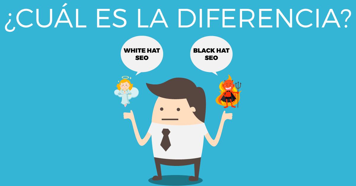 Diferencia entre white hat y black hat SEO